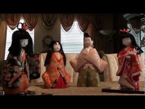 Vintage Japanese Kimono Fabric Dolls