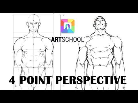 4 Point Perspective Figure Demo (ART School)