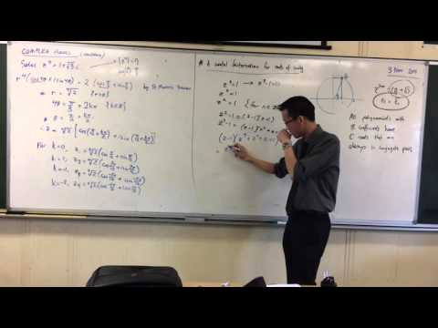 Complex Conjugate Root Theorem (4 of 4: Using Factorisation to find patterns with Roots of Unity)