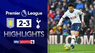Son rescues Spurs with dramatic last-minute goal!   Aston Villa 2-3 Tottenham   EPL Highlights