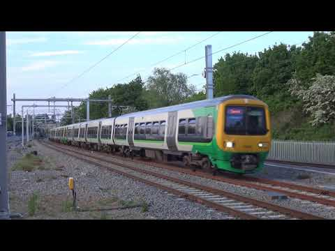 1st ever electric powered train to Bromsgrove. 323206 and 323222 with 5T78 and 5T79 from Soho to BMV