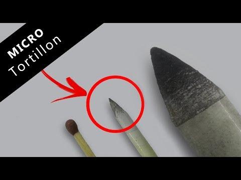 Blending stump for skin texture | How to make a Micro Tortillon