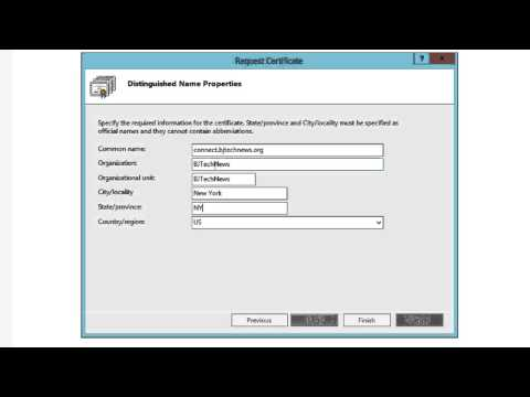 How To! - Create a Certificate Request in Windows Server 2012 (IIS8)