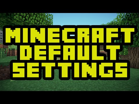 How To Reset Minecraft To The Default Settings - Minecraft Default Options Tutorial