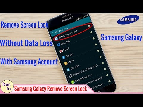 Samsung Galaxy Remove Screen Lock without Data Loss With Samsung Account