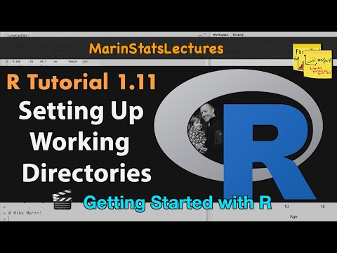 How to Set Up a Working Directory in R (R Tutorial 1.10)