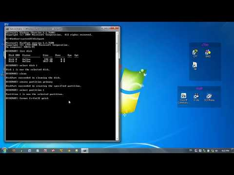 How to make a Bootable USB flash drive using Command Prompt