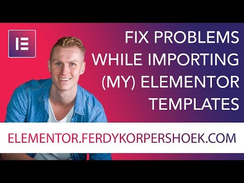 Elementor Templates Troubleshooting