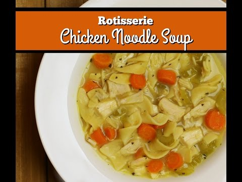 Rotisserie Chicken Noodle Soup ~ Rotisserie Chicken Recipe ~ Amy Learns to Cook