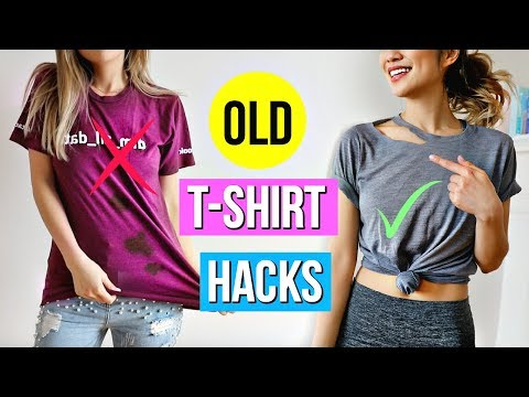 6 Old T-Shirt Hacks EVERY Girl Must Know!