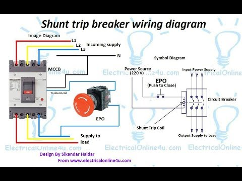 Shunt Trip Breaker Wiring Diagram In Urdu & Hindi || How To Install A Shunt Trip Breaker