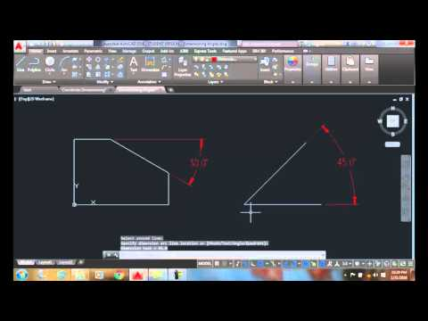 AutoCAD I  17-08 Dimensioning Angles