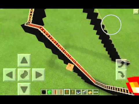 Let's Build A Roller Coaster- Part 1 (Minecraft Pocket Edition)