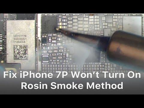 Fix iPhone 7 Plus Won't Turn On After Water Damage - Rosin Smoke Method
