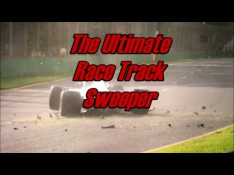 The FOD BOSS Race Track Sweeper