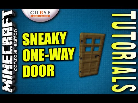 MINECRAFT - PS4 - SNEAKY ONE WAY DOOR - HOW TO - TUTORIAL ( PS3 / XBOX /PC )
