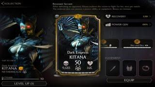 Dark Empress Kitana! Mortal Kombat X (MKX) 1.6! IOS Android Gameplay!