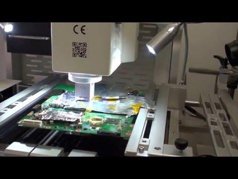 Working on laptop board - Chipset soldering