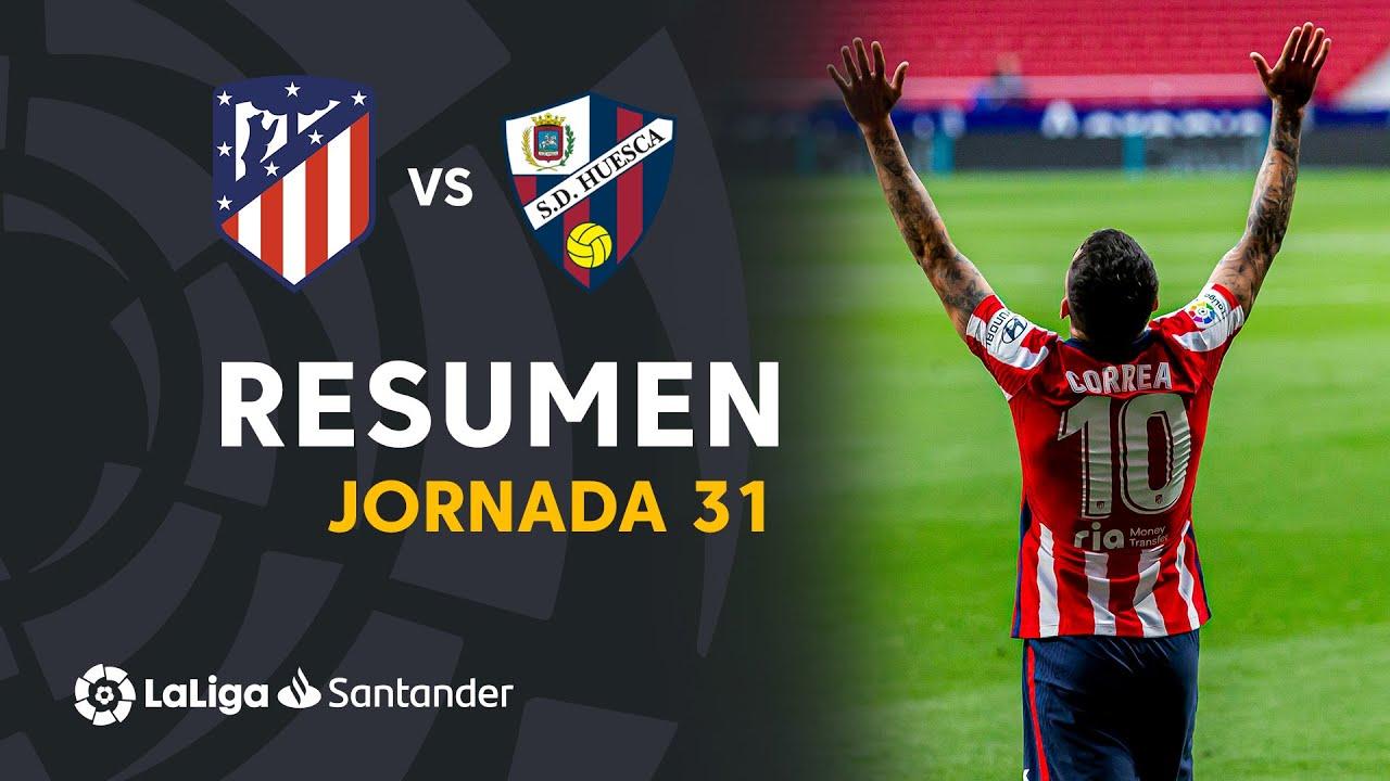 Resumen de Atlético de Madrid vs SD Huesca (2-0)
