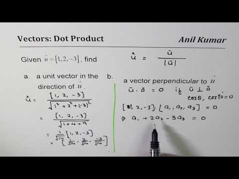Find Unit Vector and Perpendicula Vector in R3