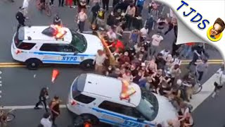 NYPD Intentionally Runs Over Protestors In Broad Daylight