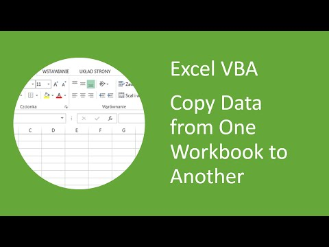 Excel VBA - How to Copy Data From One Workbook and Paste Into Another