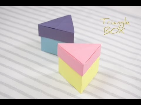 Easy Origami Triangle Box 🎁 DIY 🎁 How to make a paper Box