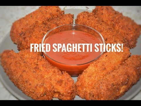 How To Make Fried Spaghetti Sticks - Spaghetti Recipe - Pasta Appetizer