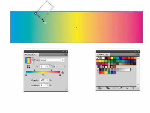 Adobe Illustrator CS4, Making Gradients