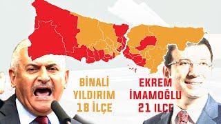 YEREL SEÇİM 2019 - İSTANBUL İLÇELERİ ANKET SONUÇLARI #yerelseçim2019