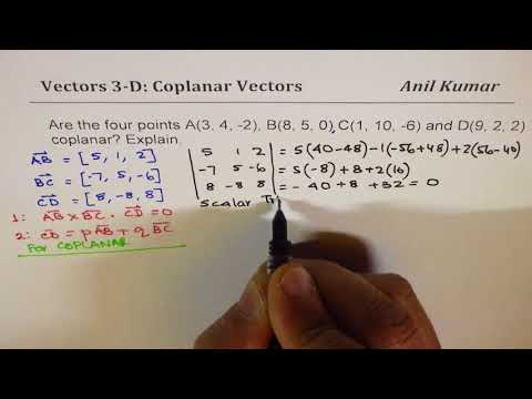 Are the Four Given Points Coplanar Vectors Explain Strategy