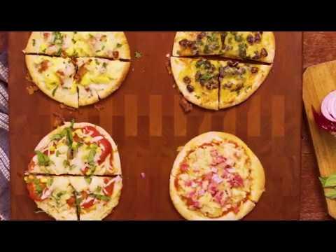 Cabot Pita Pizza 4 Ways