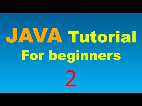 Java Tutorial for Beginners - 2 - Variables and Types