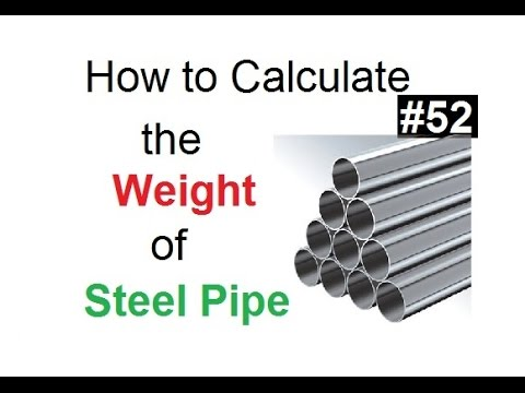 How to calculate the weight of hallow steel pipe in Urdu/Hindi