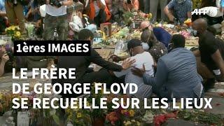 Le frère de George Floyd se recueille sur les lieux de l'arrestation | AFP Images