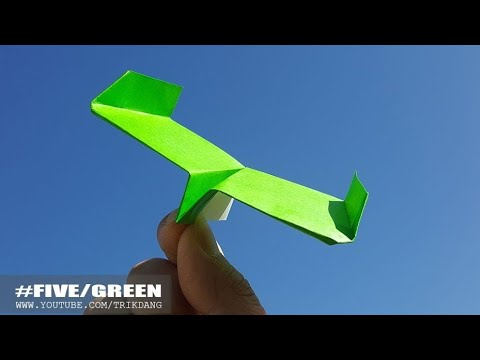 PAPER AIRPLANE for KIDS - How to make a Paper Airplane that FLIES | Green