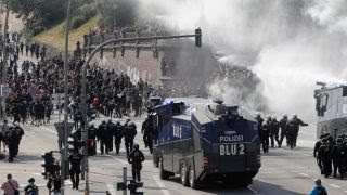 violent protests break out for second day at g20 summit