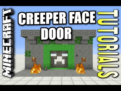 Minecraft PS4 - CREEPER FACE DOOR - Redstone Tutorial ( PS3 / XBOX ) WII