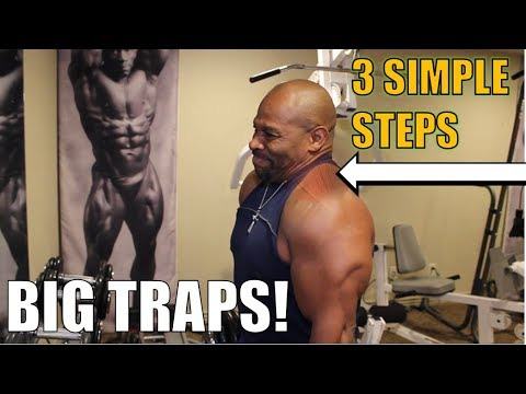 BIG TRAPS: 3 Simple Steps!                     [ Best Trapezius Muscle Exercise ]