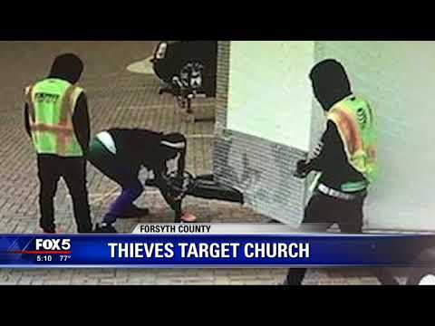 Thieves target Forsyth County church