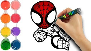 Download Learn how to draw Spiderman Far From Home with colors Video