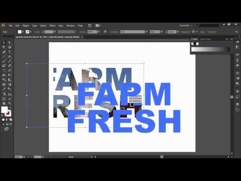 Creating Opacity Masks from Text in Adobe Illustrator CS6