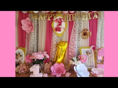 Party decoration 🏵 gold and pink 🌸