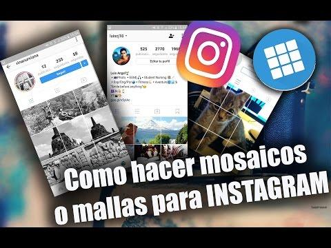 Como crear MOSAICO, ROMPECABEZAS, COLLAGE en tu perfil de INSTAGRAM Abril 2018