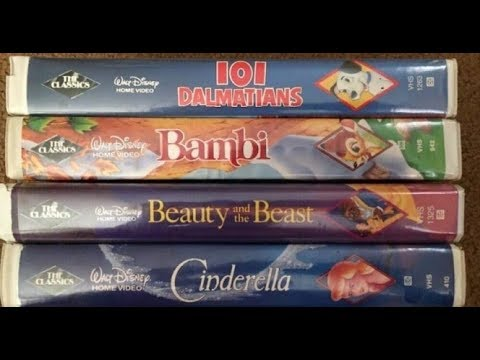 Lucky People Who Kept Their Old Disney Tapes Could Make