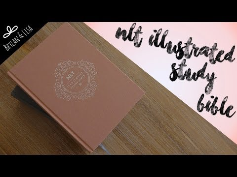 NLT Illustrated Study Bible Review! Slate Grey & Blush Rose Linen Hardcovers!