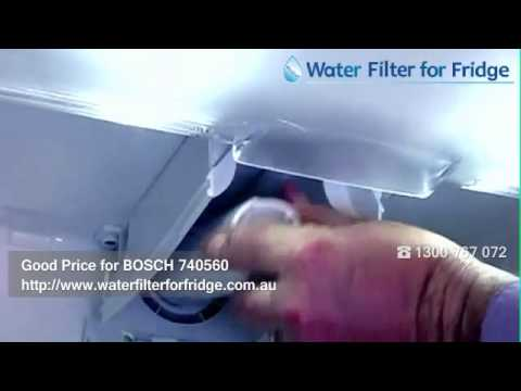 HOW TO REPLACE BOSCH 644845 / 740560 9000-077104 ULTRACLARITY FRIDGE WATER FILTER