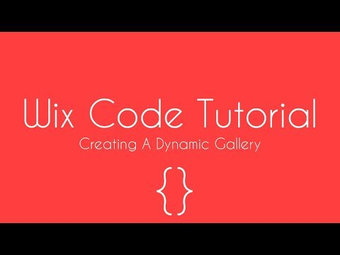 How To Create A Dynamic Gallery In Wix - Wix Code Tutorial - Wix For Beginners 2018