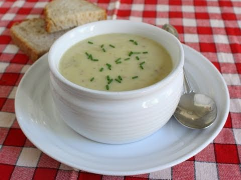 Cream of Green Garlic & Potato Soup Recipe - Cream of Potato Soup with Garlic