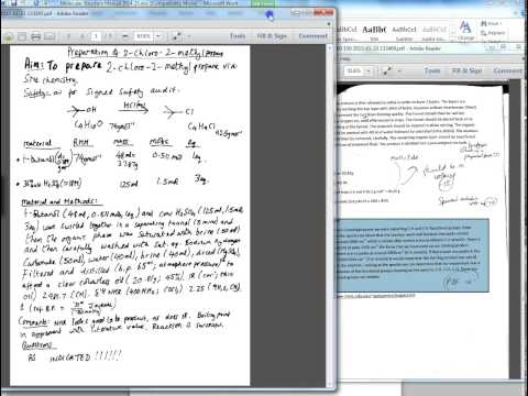 How to write up an organic chemistry lab